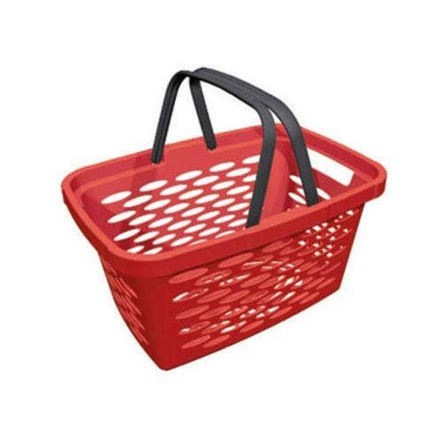 Корзина покупательская пластиковая SHOLS 20л (красный)