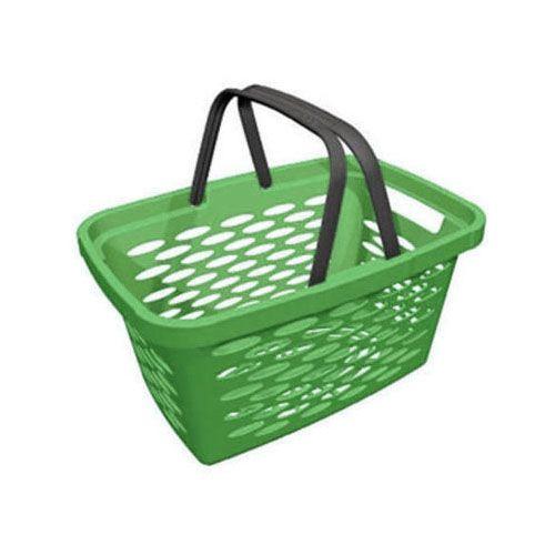 Корзина покупательская пластиковая SHOLS 20л (зеленый)