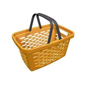 Корзина покупательская пластиковая SHOLS 20л (оранжевый)