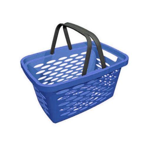Корзина покупательская пластиковая SHOLS 20л (синий)