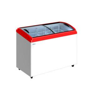 Ларь морозильный Italfrost CF400C красный (5 корзины)