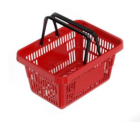 Покупательская корзина ROCK на 20 литров (красная)